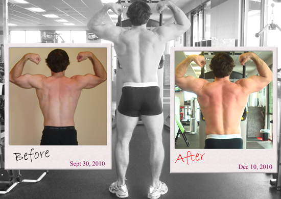 ronnieb rear bicep pose before and after
